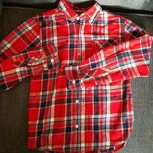 Tommy Hilfiger girls flannel shirt great condition
